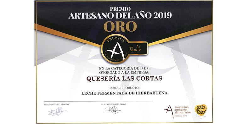 PREMIO ARTESANO DEL AÑO 2019 ORO