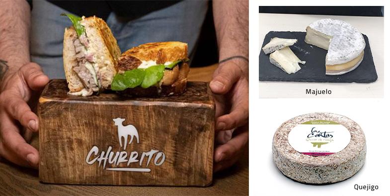 Dos de nuestros Quesos forman parte de los ingredientes de «Churrito», que puede convertirse en el Mejor Bocadillo de España en Madrid Fusión